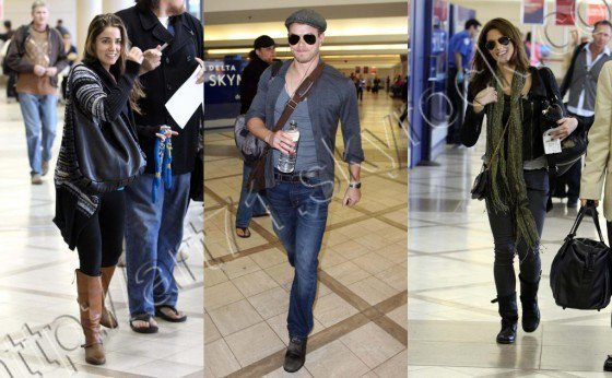 Nikki Reed&Ashley Greene&Kellan Lutz at LAX Airport  17.10.2010