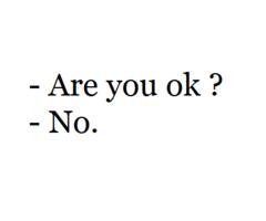 Je Me suis fait mal ,seule .