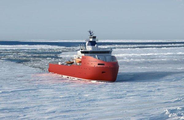 TAAF: Nouveau navire brise glace.