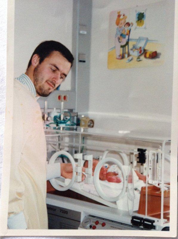 Mon papou et moi a la maternité *-*