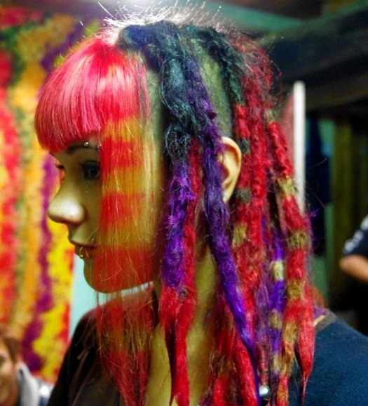 coloration de mes dreads et frange par remy