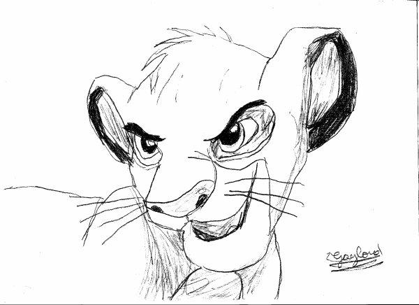 Dessins de mon Disney préféré Le Roi Lion 1 fait par moi