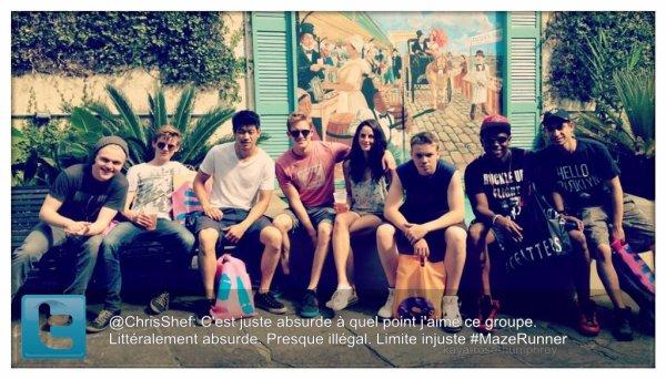 - _TWITTER TIME____Kaya et le cast de son nouveau film Maze Runner