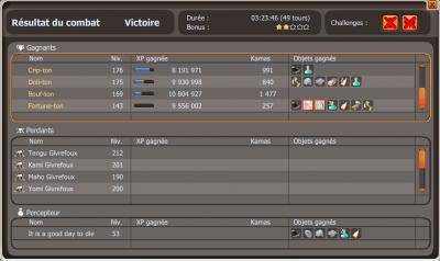 Victoire contre le Tengu !!!!!!