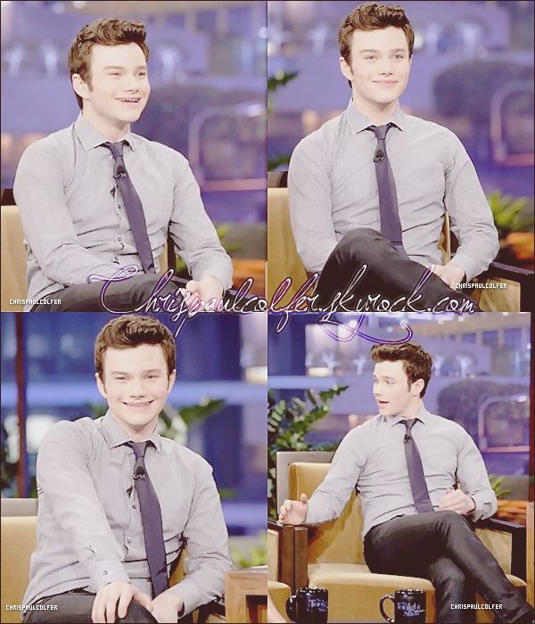Chris Colfer était invité au Tonight Show with Jay Leno, pour la saison 3 de glee+ new photo promo de kurt.