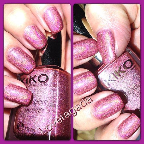 Nail art kiko holographique