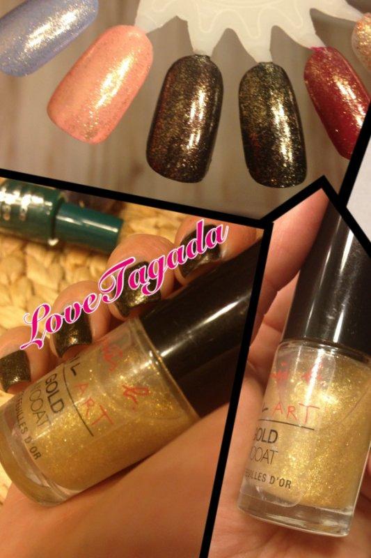 Des feuilles d'or sur vos ongles