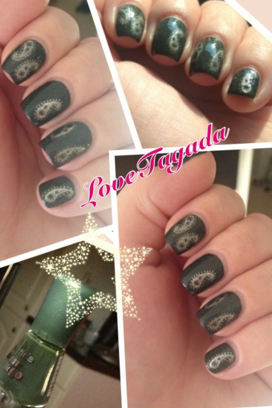 Du vert sapin sur mes ongles