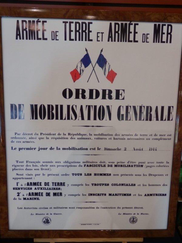 AOUT 1914...LA MOBILISATION