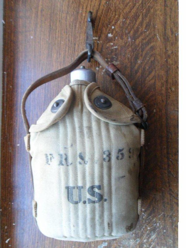 Gourde de cavalerie US ww1