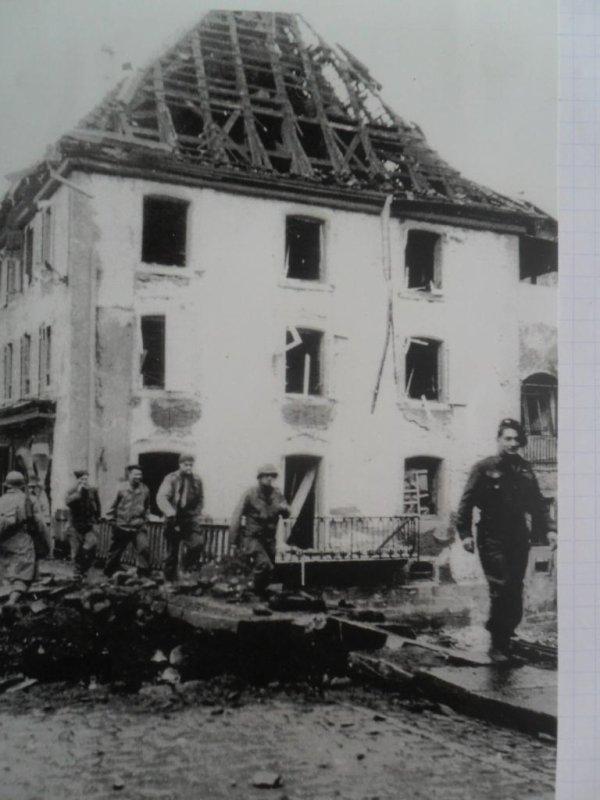 Avant / apres  Masevaux 1944 / 2014