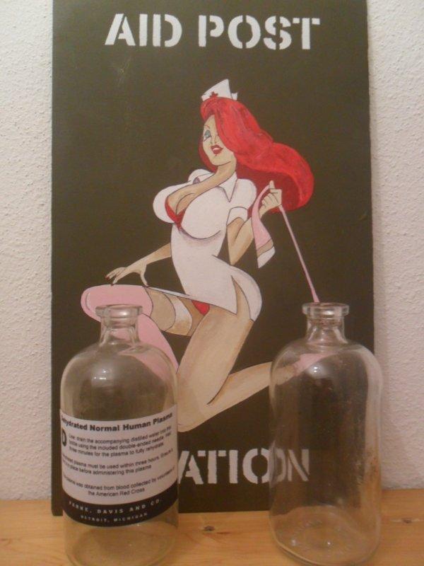 bouteille de plasma deshydraté