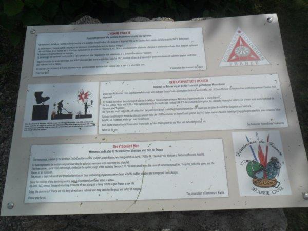 Momument  des Demineurs Ballon d'Alsace