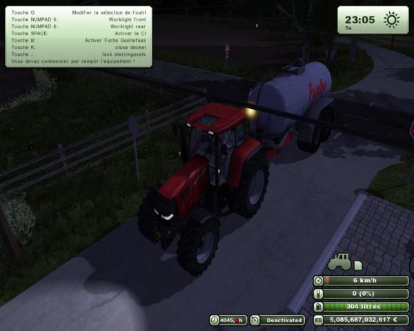 Case cvx175 + tonne a lisier fuchr