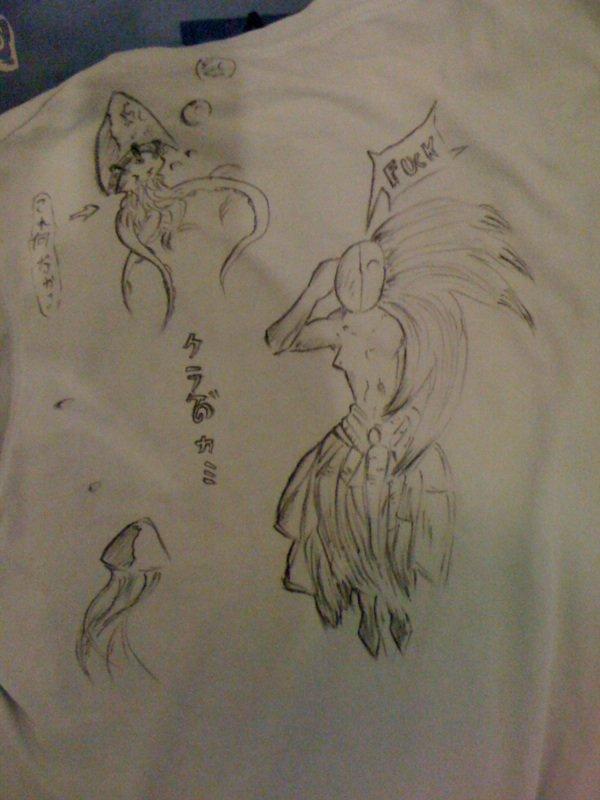 Tee-shirt bleu^^