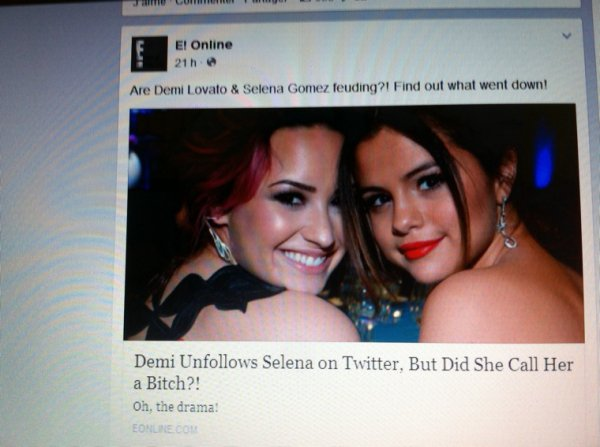 Demi Lovato ne suis plus Selena Gomez sur Twitter??!!!