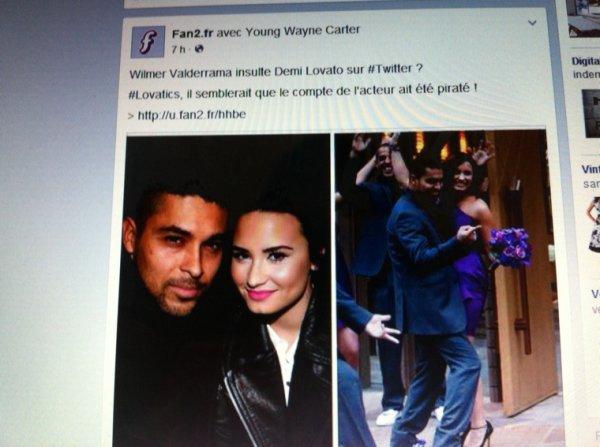 Le compte Twitter de Wilmer Valderrama a été piraté! Il n'aurait jamais fait ça à Demi ( Sa petite amie)