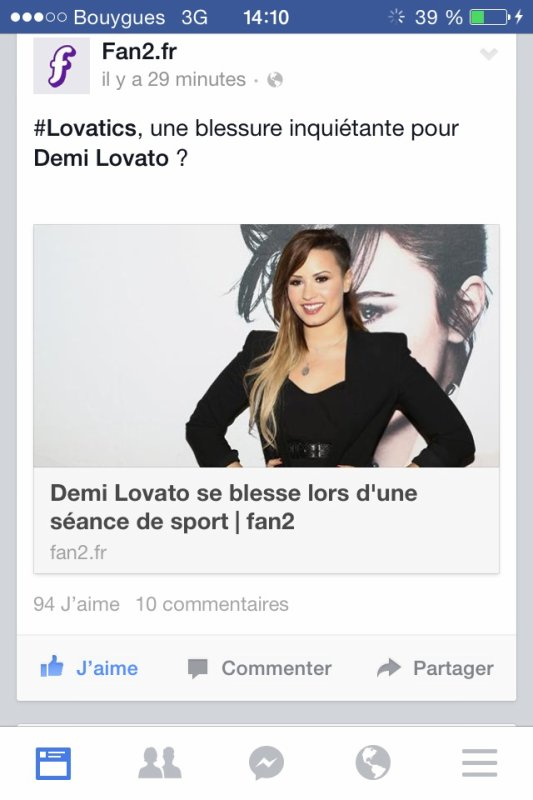 Demi Lovato s'est tordu la cheville en faisant du sport! (ENCORE COMME ELLE DIT!)