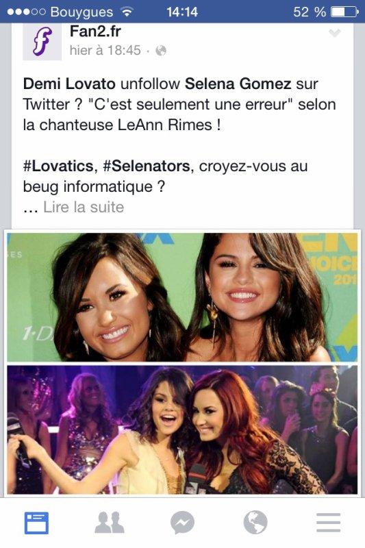 Demi Lovato unfollow Selena Gomez !