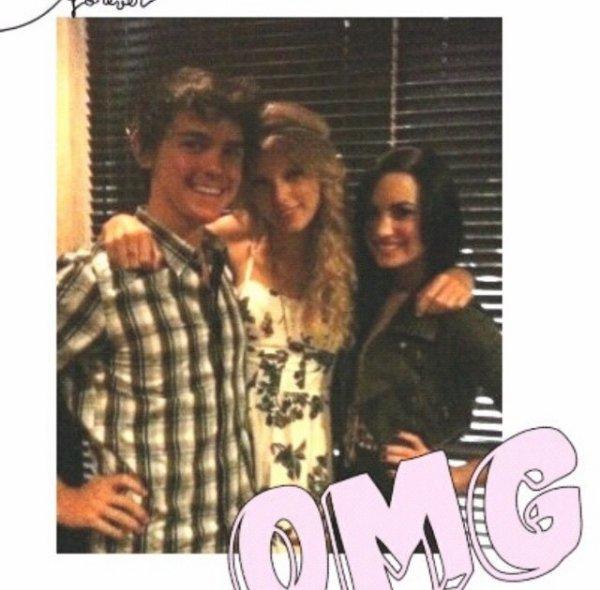 Taylor Swift & Demi Lovato :) (je connais pas ce mec donc..!)
