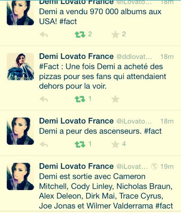 #Facts de Demi Lovato : 2