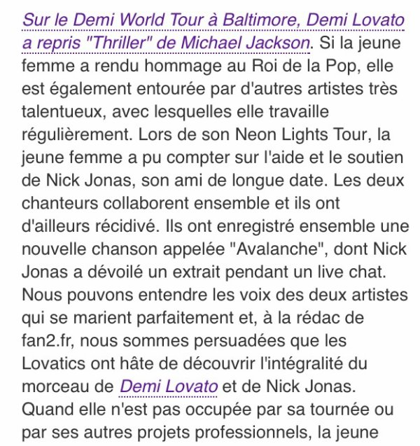 Nick Jonas ft. Demi Lovato - Avalanche!!