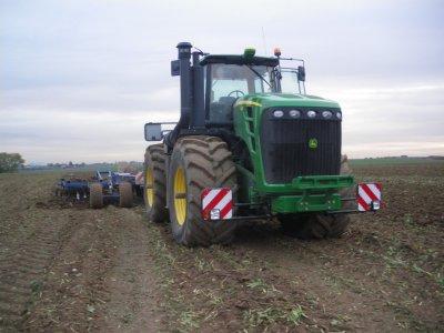 gros tracteur john deere en essai