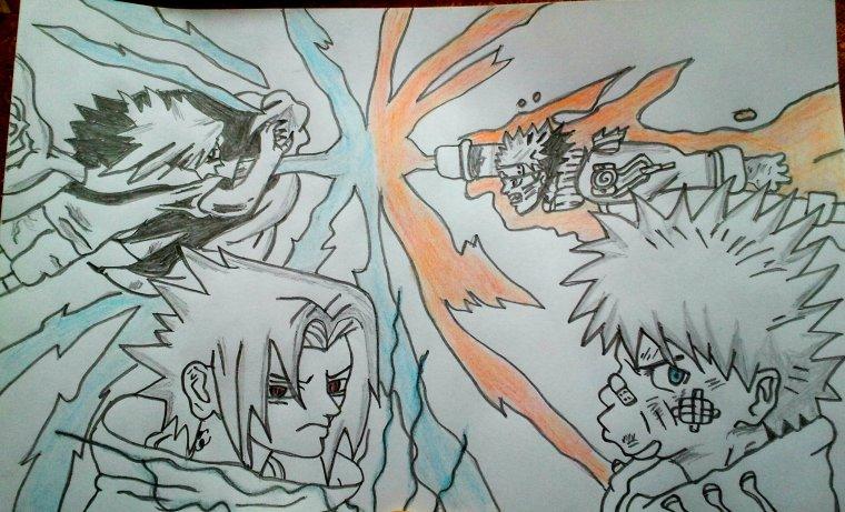Naruto Vs Sasuke Dessins