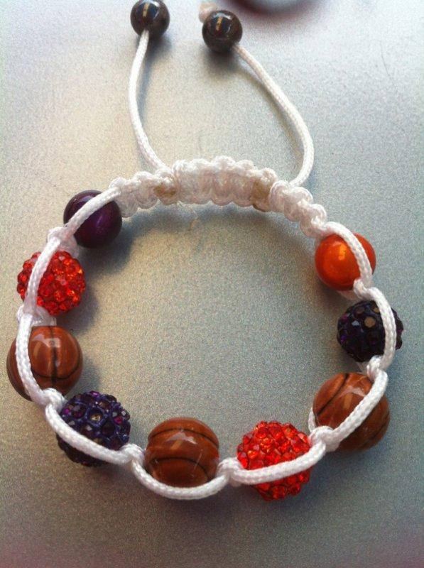 Shamballa sport perles céramique peinte a la main 8¤