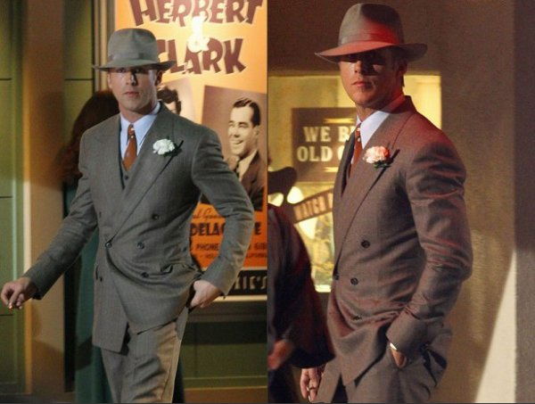 Ryan Gosling on Gangster Squad set, October 20th