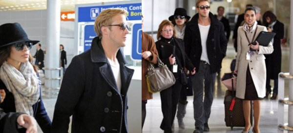 Ryan Gosling in Paris with Eva Mendes