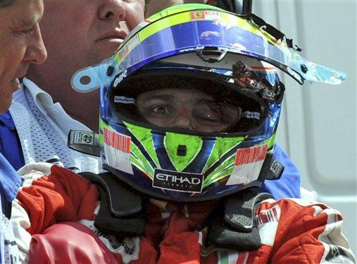La saison de Massa est brisée par l'accident en Hongrie en 2009...