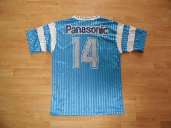 Maillot Olympique de Marseille porté par Jean Tigana saison 1990 - 1991