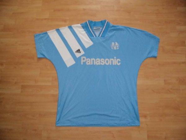 Maillot Olympique de Marseille porté par Manuel Amoros saison 1991 - 1992