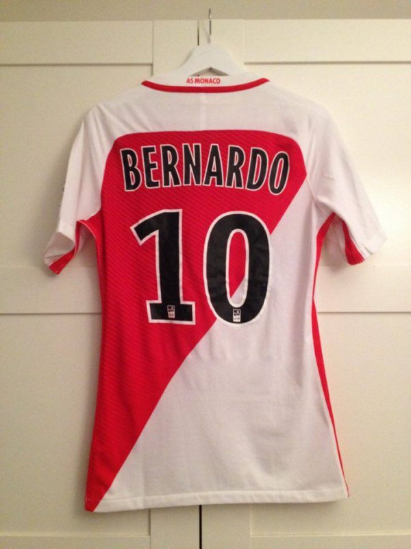 Maillot AS Monaco porté par Bernardo Silva saison 2016 - 2017