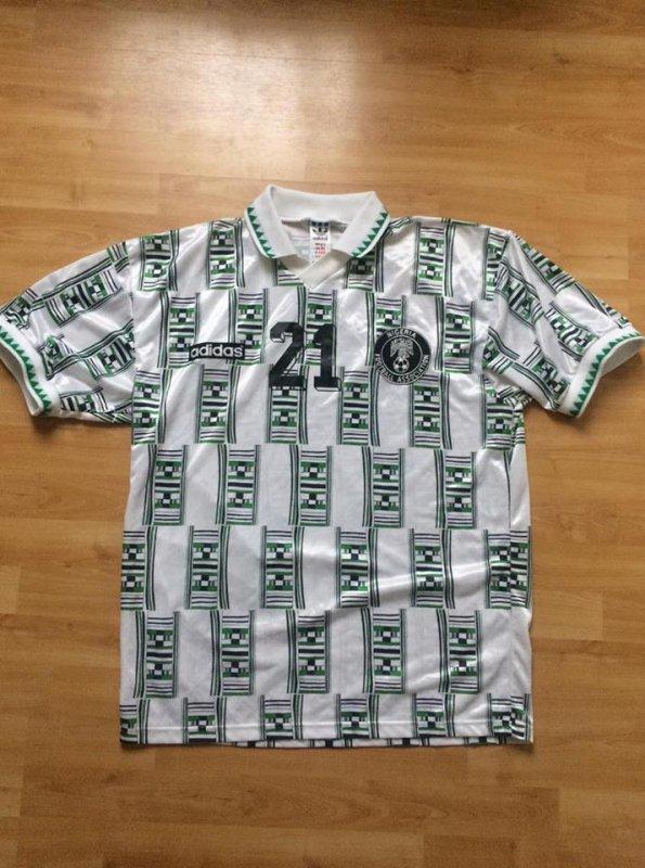 Maillot Nigéria porté par Mutiu Adepoju 1994