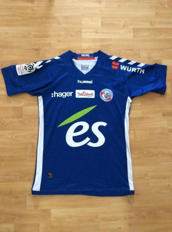 Maillot Racing club de Strasbourg porté par Bakary Koné saison 2017 - 2018