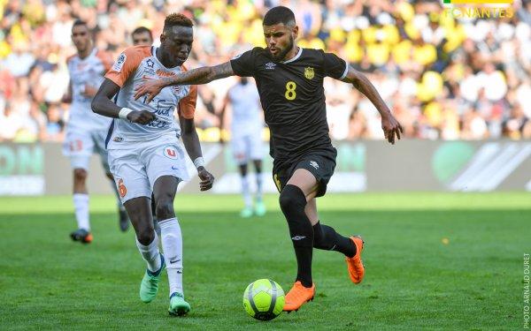 Maillot FC Nantes porté par Lucas Lima saison 2017 - 2018