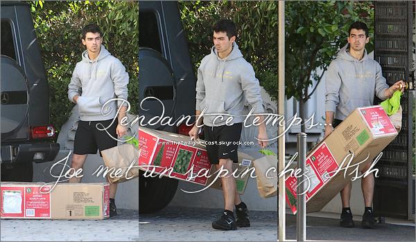 .29.11.10 : Ashley quittant le centre médicale de Burbank (examens avant le tournage de BD). Pendant ce temps la chez Ashley Joe décide de lui mettre un sapin ;) Noel approche ! .
