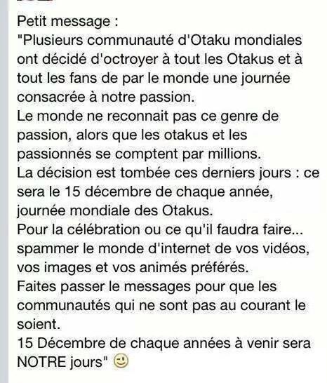 Journée Mondiale des Otakus