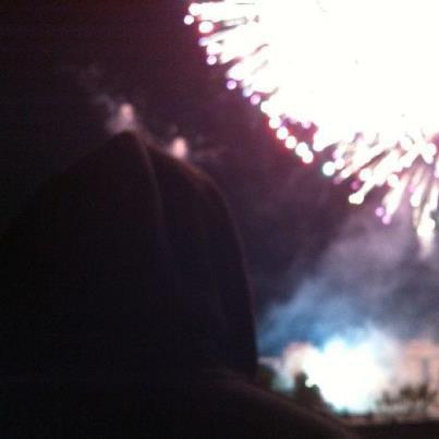 Hier au feu d'artifice de paris pour le 14 juilet