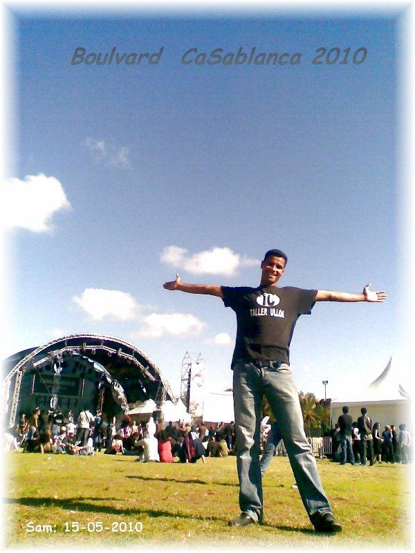 moi dans boulvard de CaSablanca 2010