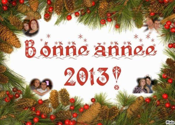 $) bonne année à vous et à votre famille bisous $)