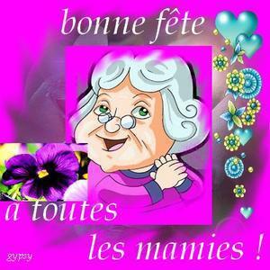 Je souhaite Bonne Fête a toutes les Mamies. Bon Dimanche. :)