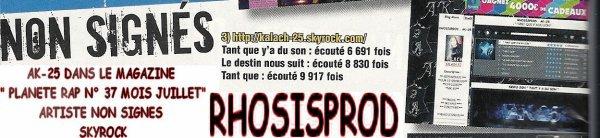 """PETITE APPARTION DANS LE MAGAZINE """"PLANETE RAP"""""""