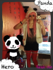 Cosplay Luka Megurine version Panda Hero