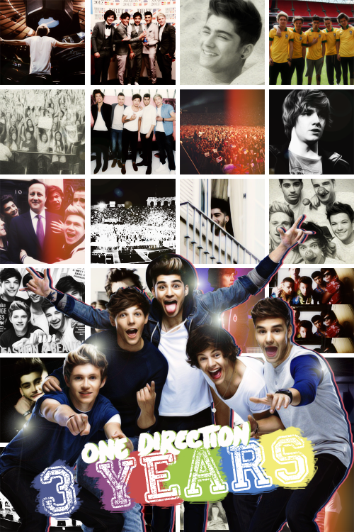Article Spécial - One Direction ♥ Happy 3rd Birthday ♥