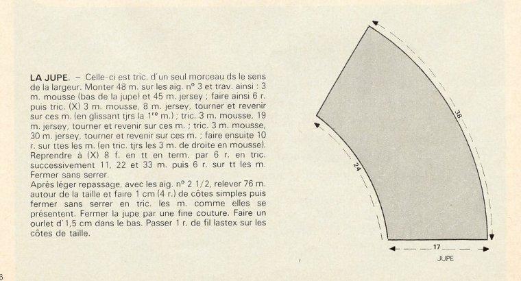 Ensemble tricoté, pull et jupe, M&T 1978 08