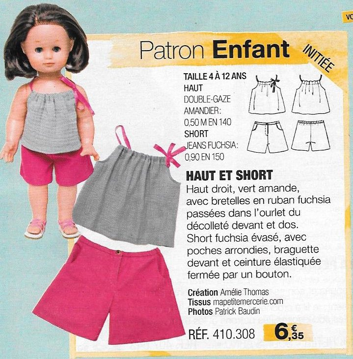 2017 07 Ensemble haut et short M&T