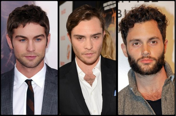 Chace Crawford VS Ed Westwick VS Penn Badgley